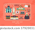 South Korea travel concept poster 37920031
