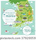 South Korea travel map 37920059