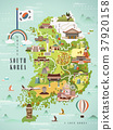South Korea travel map 37920158