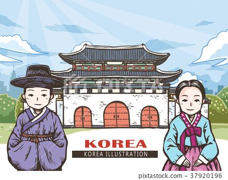 Korean travel concept 37920196