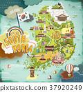 South Korea travel map 37920249