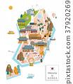 South Korea travel map 37920269