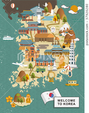 South Korea travel map 37920280