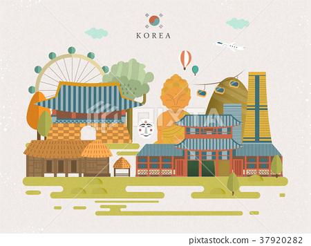 South Korea travel poster 37920282