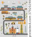 South Korea travel map poster 37920290