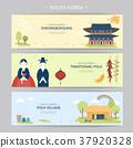 South Korea travel concept banner 37920328