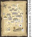 South Korea travel map 37920346