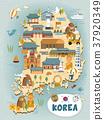 South Korea travel map 37920349