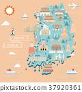 South Korea travel map 37920361