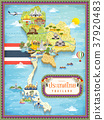 Thailand travel map 37920483