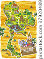adorable Thailand travel map 37920489