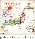 beautiful Japan travel map 37920557