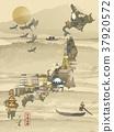 retro Japan travel map 37920572