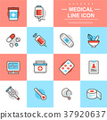 medical thin line icons 37920637