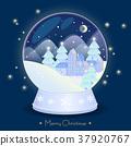 Christmas snow globe 37920767