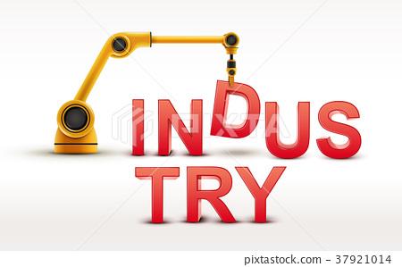 industrial robotic arm building INDUSTRY word 37921014