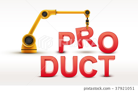 industrial robotic arm building PRODUCT word 37921051