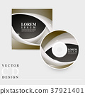 modern CD cover template design 37921401