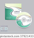modern CD cover template design 37921433