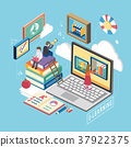 e-learning concept 37922375