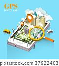 GPS route map concept 37922403