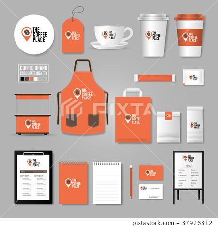Coffee shop Corporate identity template concept. 37926312