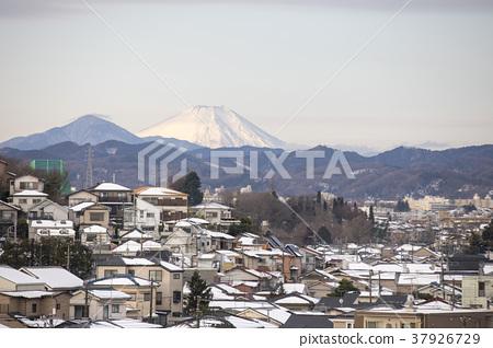 Mt. Fuji and Hachioji City in Hachioji City, Tokyo 37926729