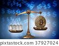 blockchain, bitcoin, scales 37927024