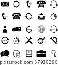 customer service icon set 37930290