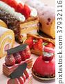 디저트 스위트 케이크 딸기 과일 파이 딸기 케이크 37932116