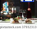 Table setting Wine Night view Restaurant Chinese 37932313