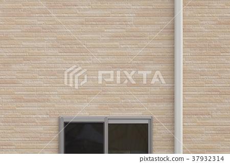 신축 주택의 외벽과 창문과 에어컨 배관 커버 37932314