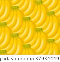 香蕉例證背景/無縫 37934449