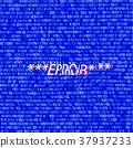 Distorted  binary code on blue 37937233