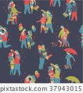 seamless, pattern, couple 37943015