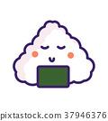 Onigiri japan food vector emoji character. 37946376
