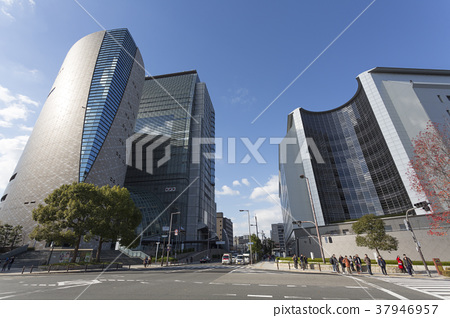 Osaka Prefectural Police Headquarters and NHK Osaka Broadcasting Station 37946957