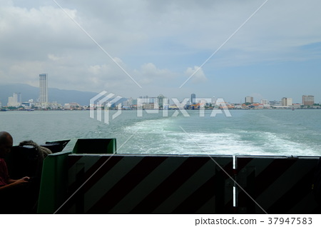 Landscape of George Town from Penang Island, Malaysia 37947583