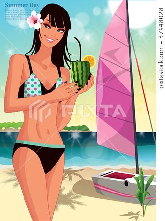 Beach and women 37948028
