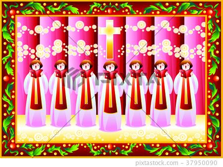 an ensemble, a choir, illustration 37950090