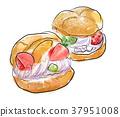 奶油泡芙 糕点 西式甜点 37951008