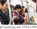 火车 电气列车 乘客 37951766
