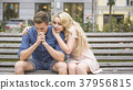 bench, couple, date 37956815