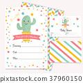仙人掌 卡片 婴儿 37960150