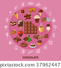 Chocolate Round Composition 37962447