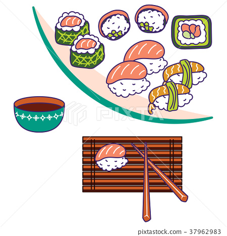 Asian cuisine vector illustration. 37962983