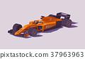 Vector low poly formula racing car 37963963