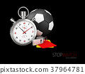 sports stopwatch with ball and whistle. 37964781