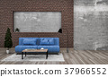 3D rendering of interior modern living room  37966552