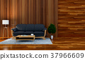3D rendering of interior modern living room  37966609